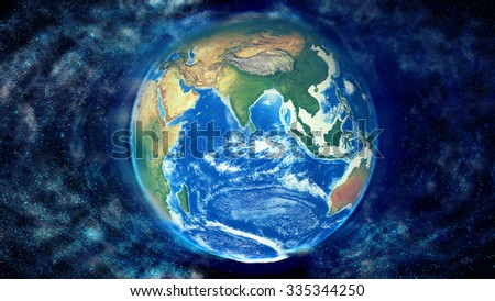 Planet Earth Decomposing - Elements of this image furnished by NASA. - stock photo