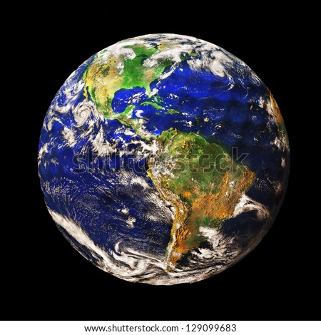 Planet Earth depicted as a Golf Ball (original image of planet Earth is a public domain image from NASA)