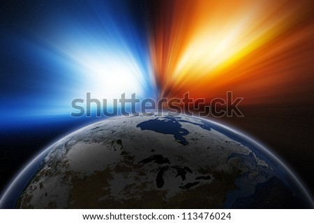 Planet Earth. Elements of this image furnished by NASA. - stock photo
