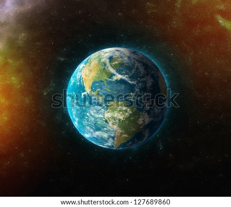"planet earth ""Elements of this image furnished by NASA"" - stock photo"