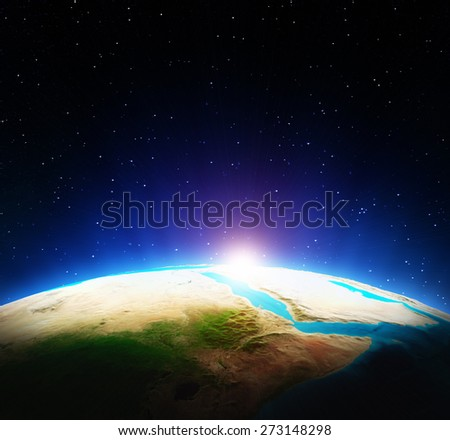 Planet Earth. Elements of this image furnished by NASA - stock photo
