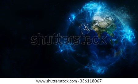 Planet Earth Energetic Field Beauty. Elements of this image furnished by NASA.