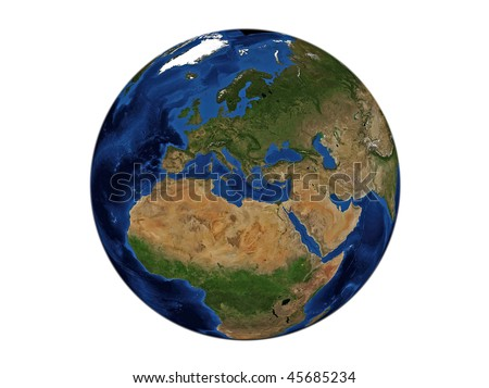 Planet Earth - Europe, Data Source: NASA - stock photo