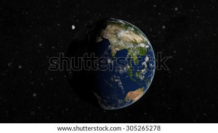 Planet Earth From Space (Elements of this image furnished by NASA)