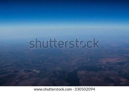 Planet earth from the space - stock photo