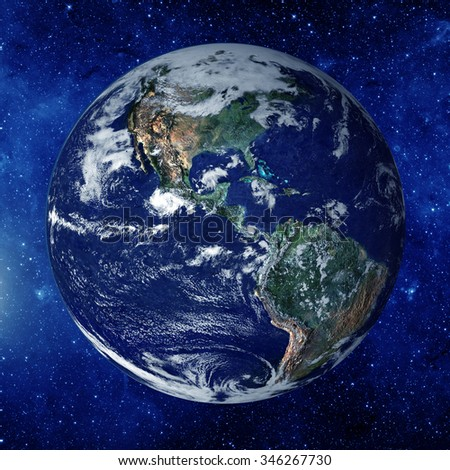 Planet earth from the space. elements of this image furnished by NASA - stock photo