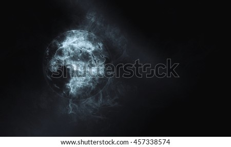 Planet Earth Global Smoke Ball Effect - Africa & Mediterranean (Elements of this image furnished by NASA)