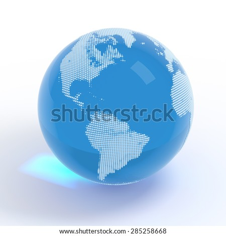 Planet Earth globe isolated with clipping path - stock photo