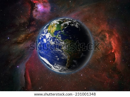 "Planet earth in space.""Elements of this image furnished by NASA  - stock photo"