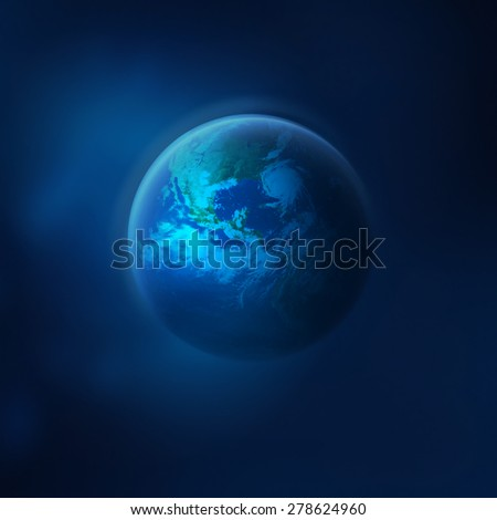 Planet Earth in space. Elements of this image furnished by NASA - stock photo