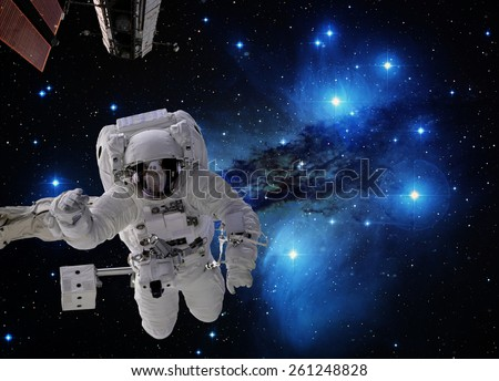 Planet earth in the space. Elements of this image furnished by NASA. - stock photo