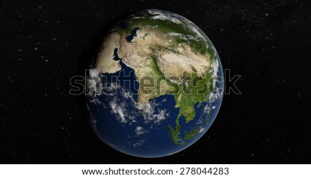 Planet Earth - India 3D Globe - Elements of this image furnished by NASA