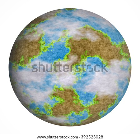Planet earth isolated on a white background - stock photo