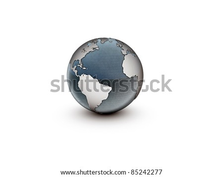 planet earth isolated on white background