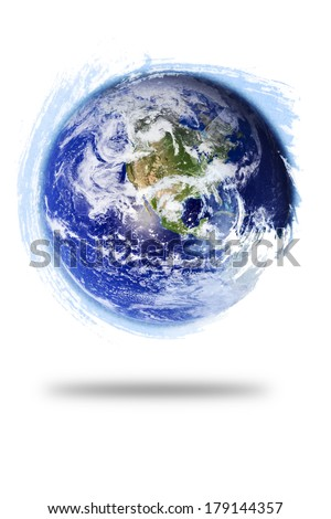 Planet Earth Paint Swirl (Elements of this image furnished by NASA)