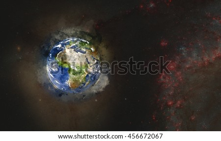 Planet Earth's Galactic & Universal Artwork - Watercolor Painting Style - Africa & Mediterranean (Elements of this image furnished by NASA)