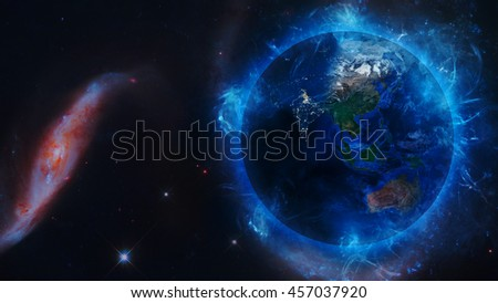 Planet Earth's Universal Energy Field. Elements of this image furnished by NASA.