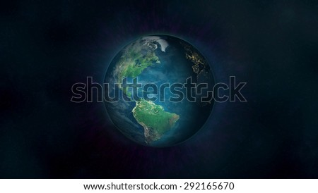 Planet Earth - South America (Elements of this image furnished by NASA) - stock photo