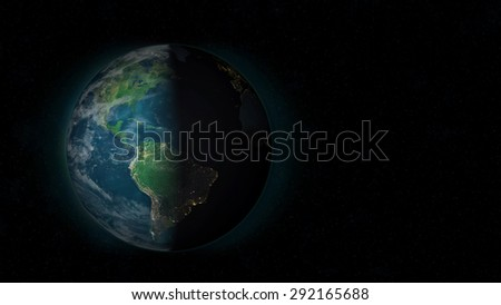 Planet Earth - South America Sunset (Elements of this image furnished by NASA)