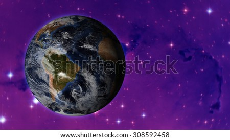 Planet Earth Space - (Elements of this image furnished by NASA) - stock photo