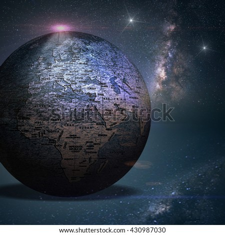 Planet earth with amazing background - stock photo