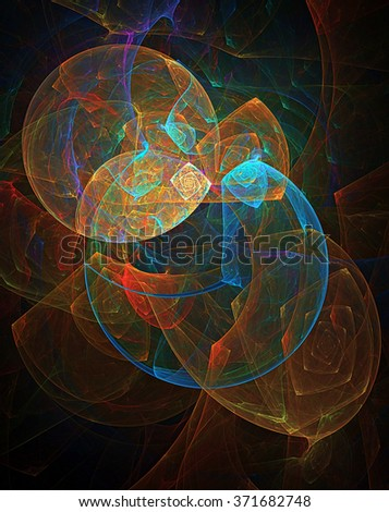 Planet Eater abstract illustration - stock photo