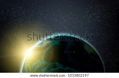 planet in space materials provided by NASA 3D rendering 3D illustration