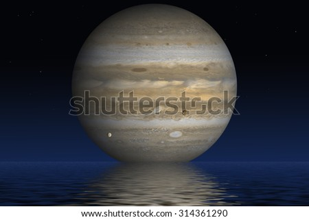 Planet Jupiter. Elements of the furnished by NASA.