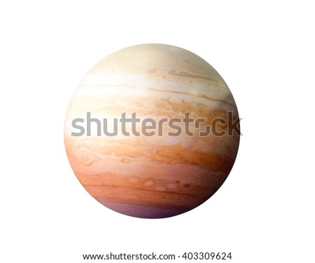 Planet Jupiter, Elements of this image furnished by NASA - stock photo