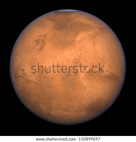 Planet Mars - A high res Full Shot rendering