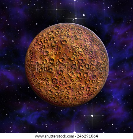 Planet Mars red  Galaxyl - stock photo