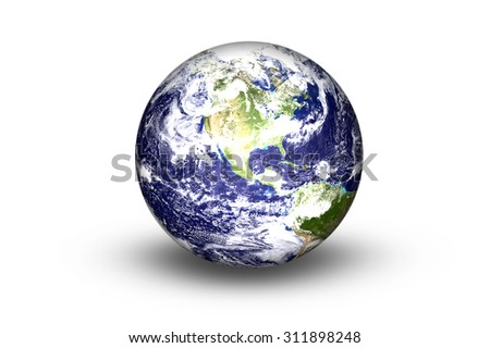Planet on white background, Elements of this image furnished by nasa.