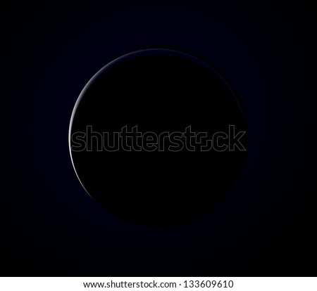 Planet seen from space with ray of light - stock photo