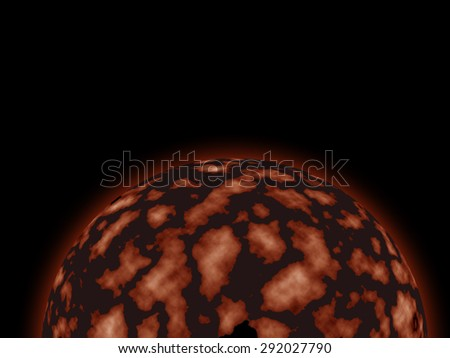 Planet surface - stock photo