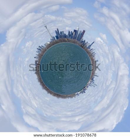 Planet Toronto - stock photo