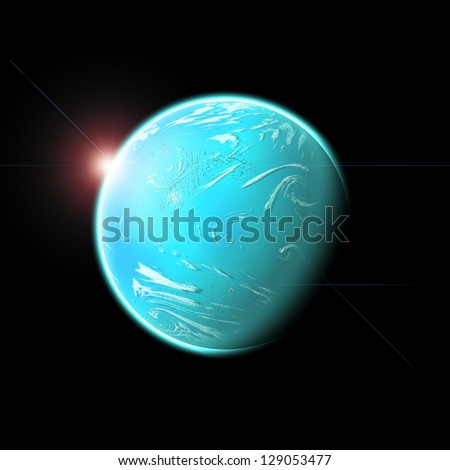 Planet with light