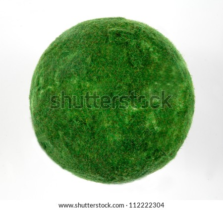 planet with tree/Green grass