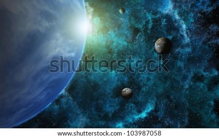 Planetary System - stock photo