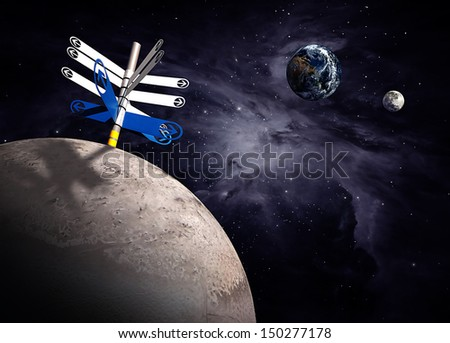 planets in the space. Elements of this image furnished by NASA - stock photo