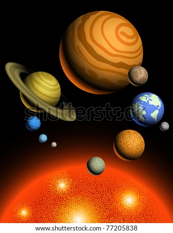 Planets of Solar System - stock photo