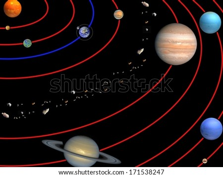 Planets of Solar system. Elements of this image furnished by NASA
