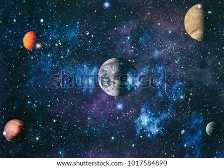 Planets stars galaxies outer space showing planets stars and galaxies in outer space showing the beauty of space exploration elements voltagebd Gallery