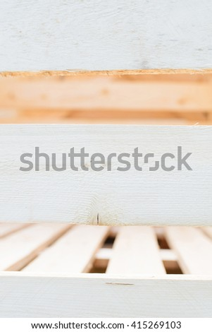plank of empty wooden case