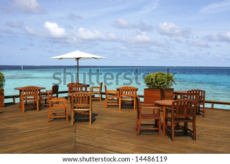 Plank Platform Of A Seaview Restaurant