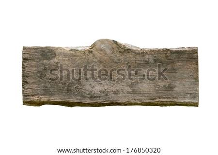 Plank wood isolated on white background - stock photo