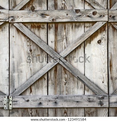 plank wooden wall of old barn background - stock photo
