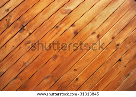 Planking, wooden wall - texture - stock photo