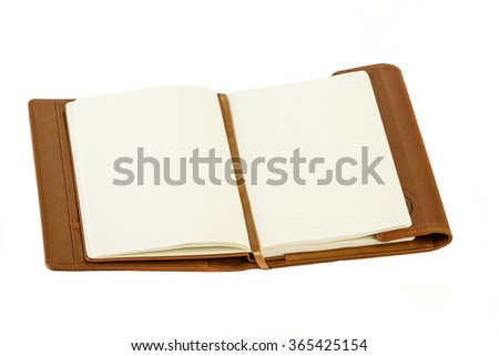 Planner or diary notebook on white background.  - stock photo