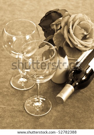 Orchid Champagne Glass Marbles Bow Stock Photo 48333184