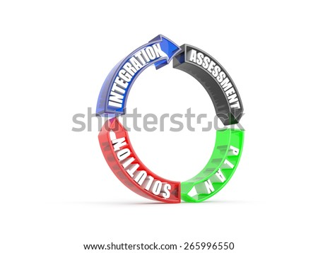 planning for success. High quality photo-realistic render of  concept - stock photo